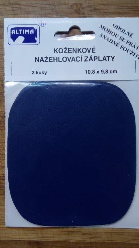 Záplaty koženkové nažehlovací tmavě modré